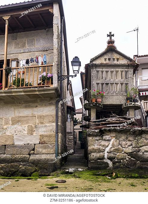 Hórreo en Combarro. Pontevedra. Galicia. España