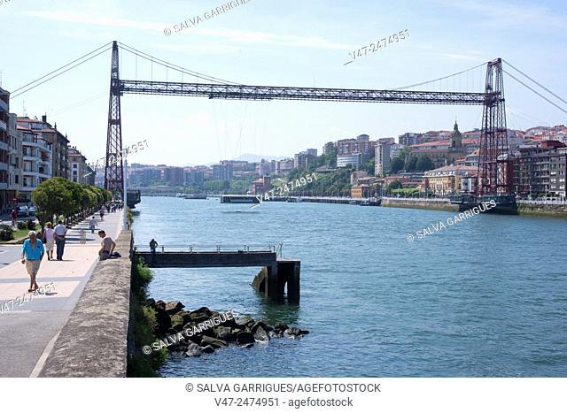 Vizcaya Bridge across the River Nervion, Pais Vasco, Spain, Europe
