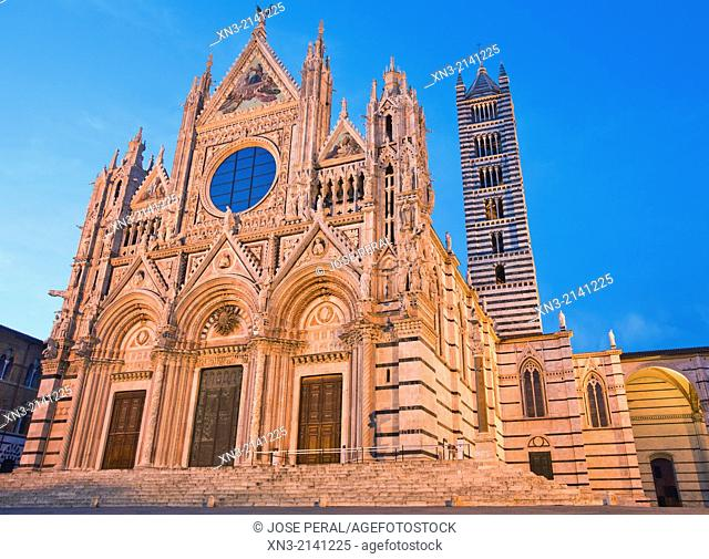 Siena Cathedral, dedicated to Santa Maria Assunta Holy Mary, Our Lady of the Assumption, Duomo di Siena, Siena, UNESCO World Heritage Site, Tuscany, Italy