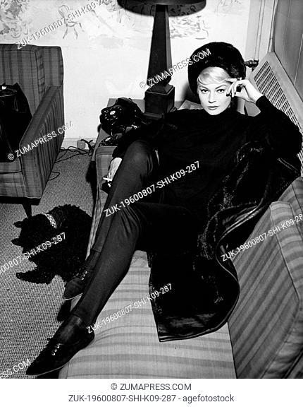 Aug. 7, 1960 - Location Unknown - ANITA EKBURG, born Kerstin Anita Marianne Ekberg, is a model, actress and cult sex symbol from Sweden