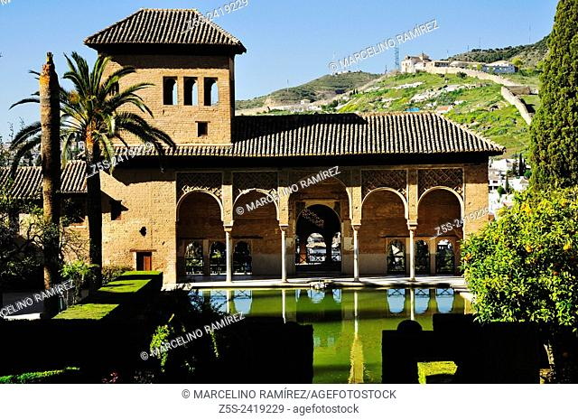 Granada, Andalucía, Spain. Alhambra, The Palace of the Partal
