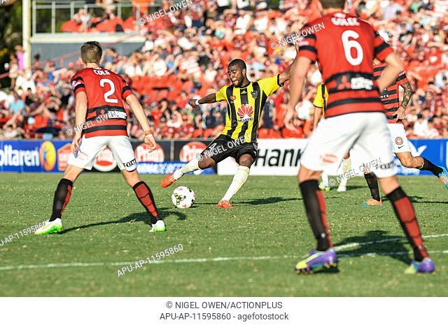 2015 Hyundai A-League Western Sydney v Wellington Feb 8th. 08.02.2015. Penrith, Australia. Hyundai A-League. Western Sydney versus Wellington