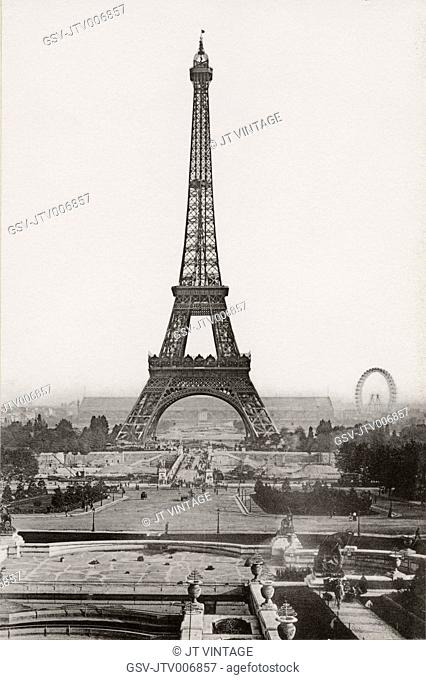 Eiffel Tower, Universal Exhibition, Paris, France, Cabinet Card, 1900