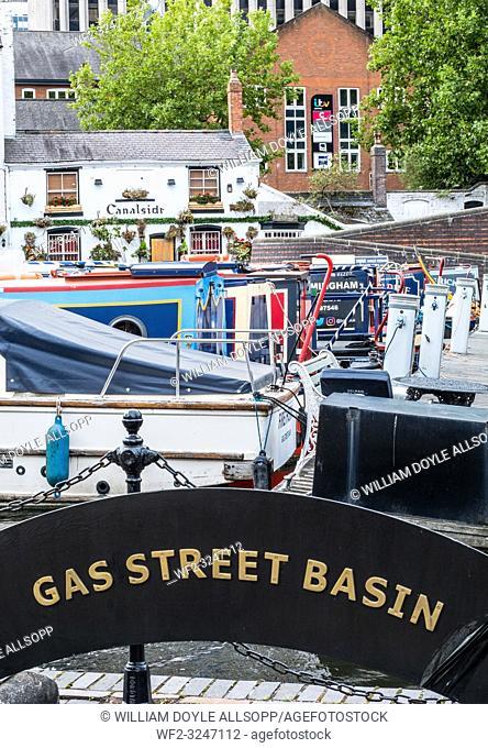 Gas Street Basin in Central Birmingham