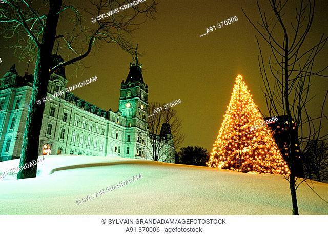 City of Quebec in winter. Quebec. Canada