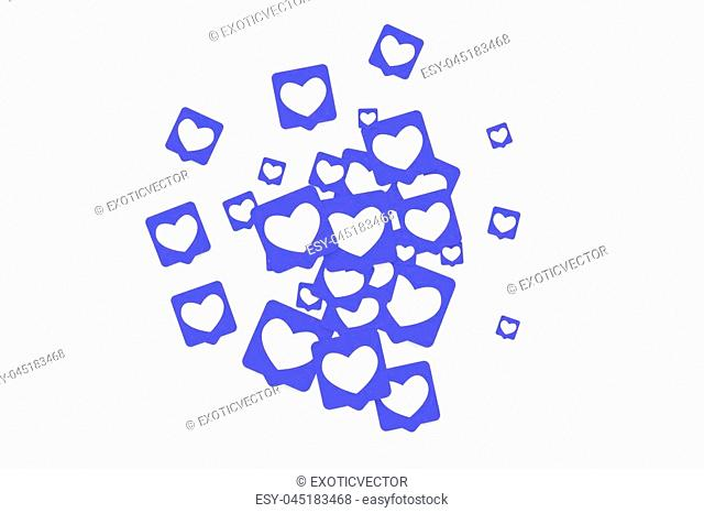 Social media marketing background. Blog design. Social networks. Follow and Share Social Media Icons Background for App, Application, Marketing, Smm, Ceo, Web