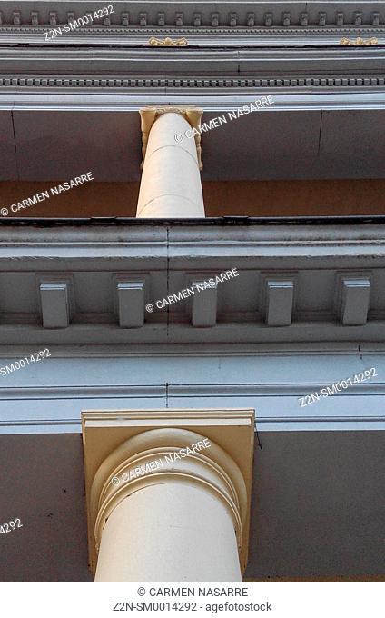 Facade and columns