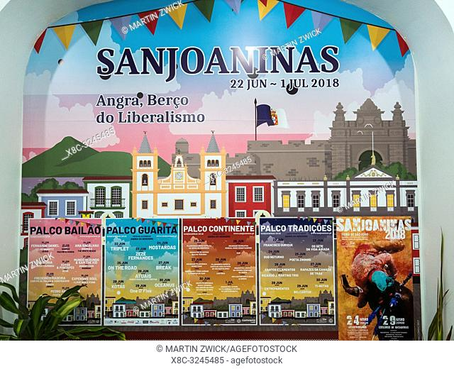 Religious and Folk festival Sanjoaninas, the biggest festival in the Azores. Capital Angra do Heroismo, listed as UNESCO World Heritage
