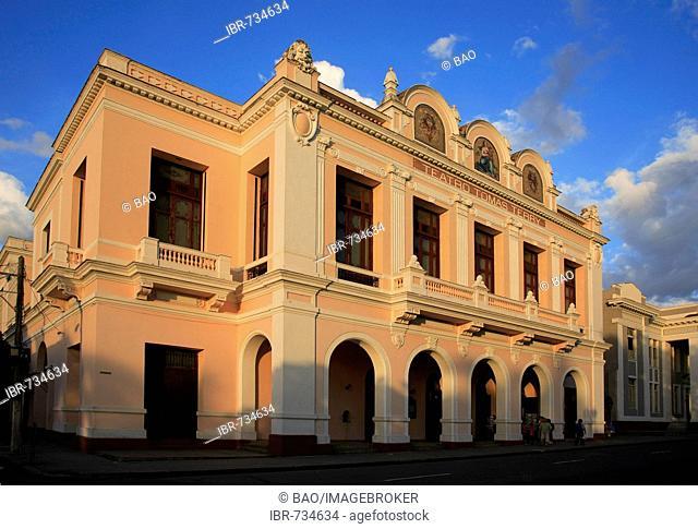 Teatro Tomas Terry at the Parque Marti, UNESCO World Heritage Site Cienfuegos, Las Villas, Central Cuba, Cuba, Caribbean