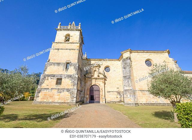 church of Saint Martin de Tours, colonial baroque style monument from 1768, in Ciguenza, Alfoz Lloredo, Cantabria, Spain, Europe