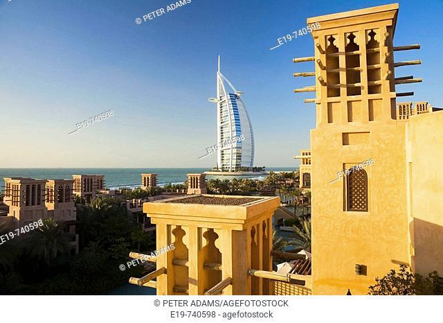Burj Al Arab hotel & Souk Madinat Jumeirh, Dubai, United Arab Emirates