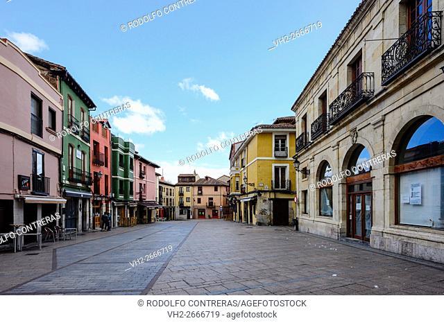San Martin square, Leon (Spain)