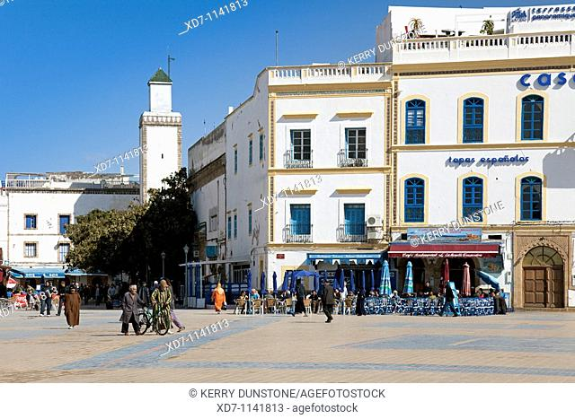 Morocco Essaouira Place Moulay Hassan with Hotel Casa Vera