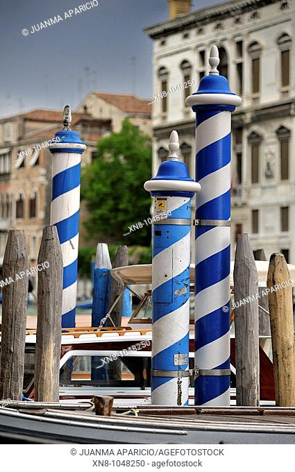 Typical mast Venetians, Venice, Italy