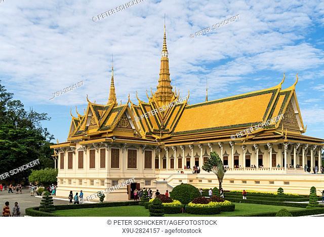 The Throne Hall of the Royal Palace, Phnom Penh, Cambodia, Asia