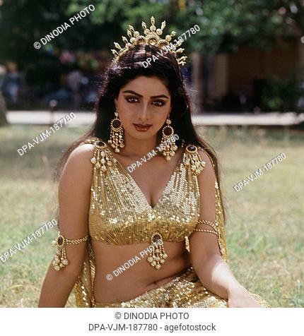 1985, Portrait Of Indian film actress Sridevi