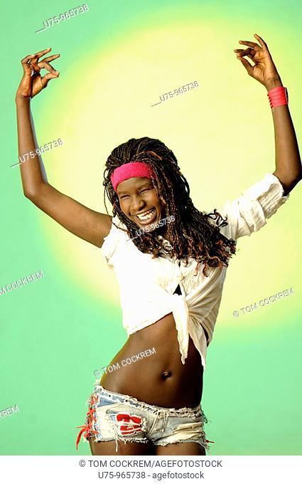 teenage black African girl
