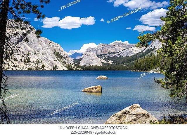 Tenaya Lake. View looking towards the eastern end of the lake. Yosemite National Park, California, United States