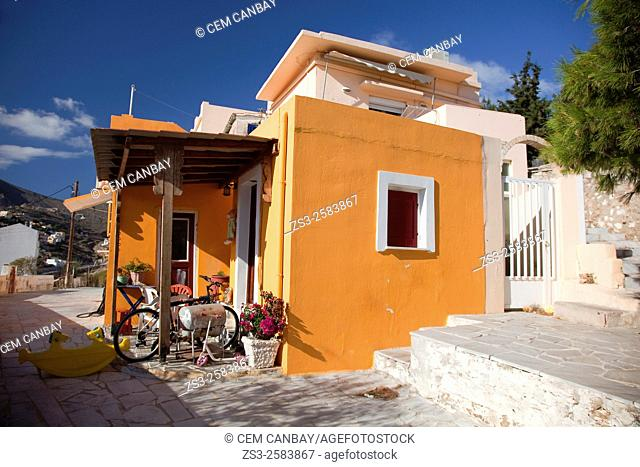 Colorful hous in Vrodado, Syros, Cyclades Islands, Greek Islands, Greece, Europe