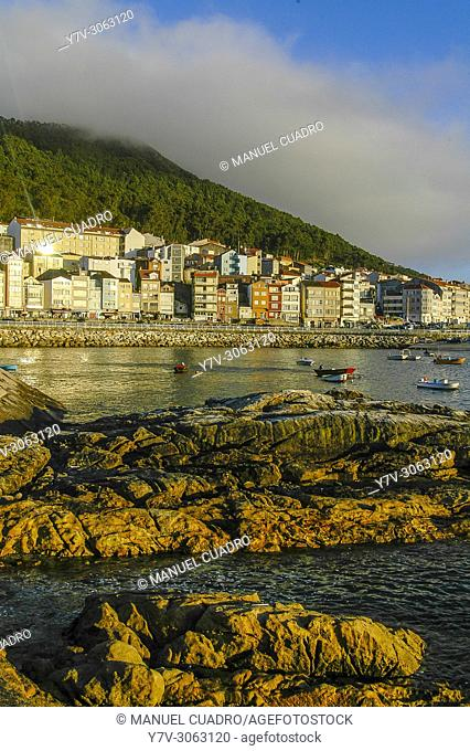 View of the town of La Guardia. Pontevedra province, Galicia, Spain