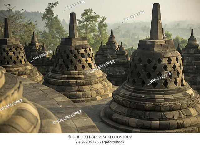 Borobudor temple in Java, Indonesia