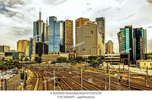 Melbourne cityscape, Victoria, Australia