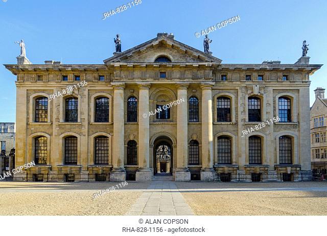 Clarendon Building, University of Oxford, Oxford, Oxfordshire, England, United Kingdom, Europe