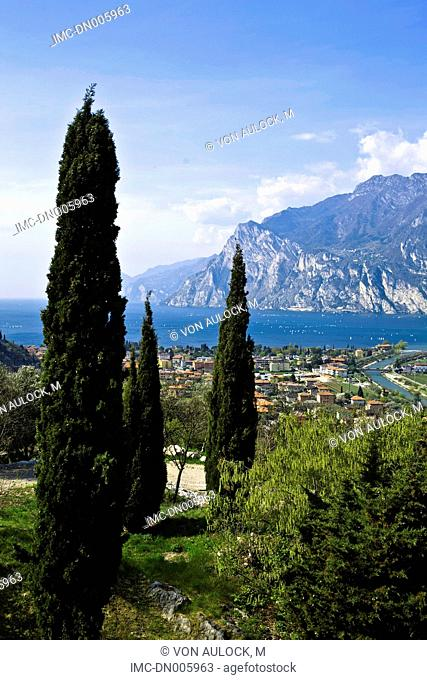 Italy, Trente, Nago-Torbole and lake Garda