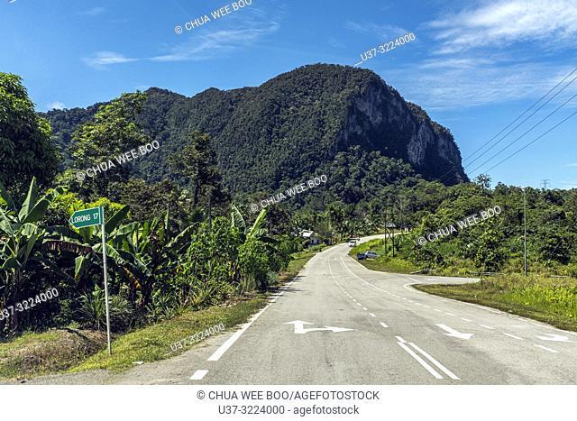 Road to Kampung Git village, Kota Padawan, Sarawak, Malaysia