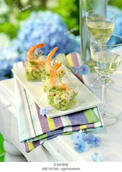 Crab and guacamole Verrines