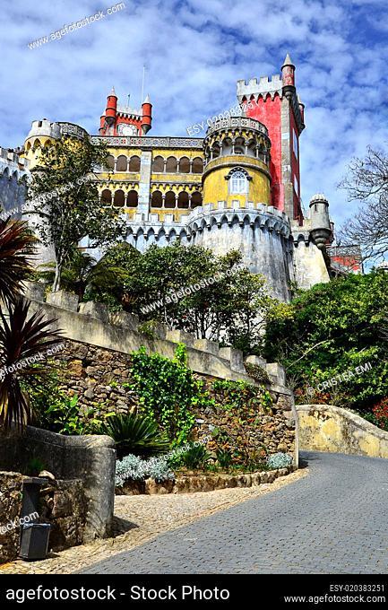 Pena Palace (Palacio da Pina) in Sintra, Portugal