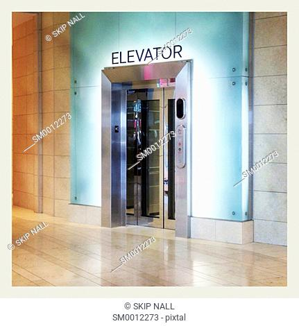 Elevator in a mall