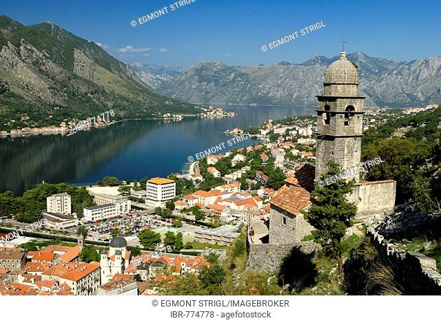 Town of Kotor, Kotor Bay, UNESCO World Heritage Site, Montenegro, Crna Gora, Balkans, Balkan, Europe