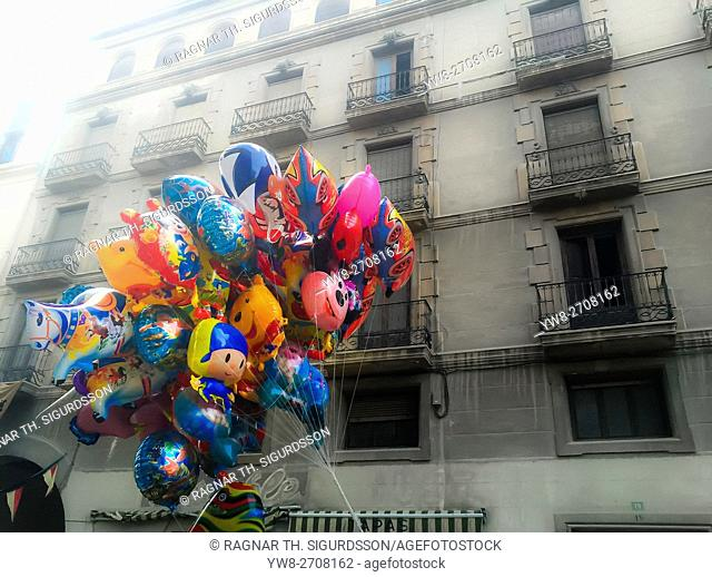 Colorful balloons, Alicante, Spain
