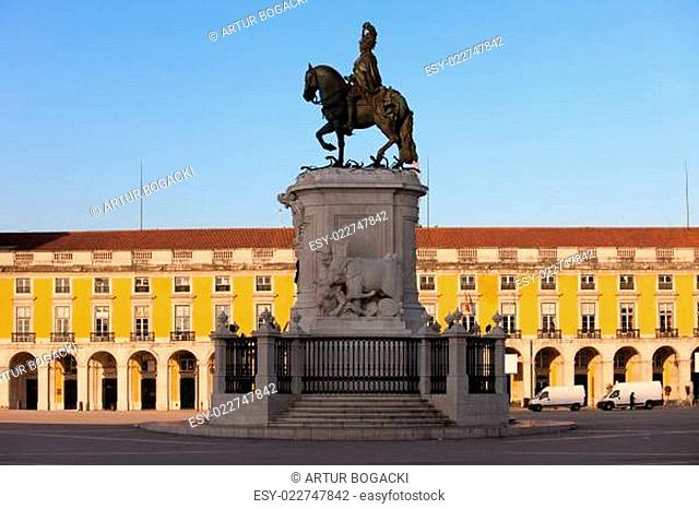 Statue of King Jose I in Lisbon at Sunrise