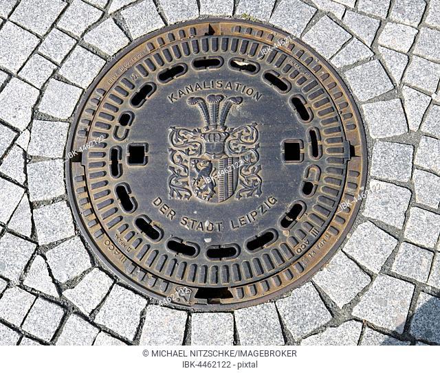 Manhole, Leipzig, Saxony, Germany