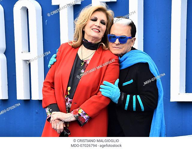 Iva Zanicchi and Cristiano Malgioglio attends Grande Fratello 16 photocall at the Cineccitta' studios. Rome (Italy) April 16th, 2019