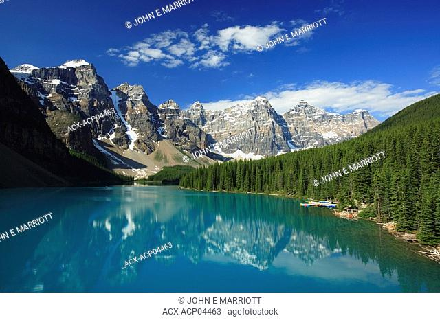 Moraine Lake and the Valley of the Ten Peaks, Rocky Mountains, Banff National Park, Alberta, Canada
