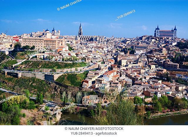 Panorama of historical Toledo, Spain, Europe