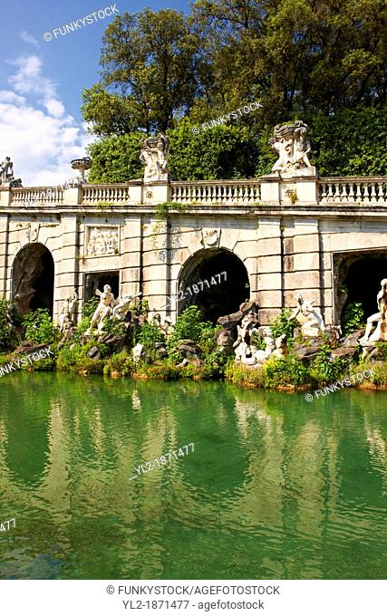 Royal Park of the Palace of Caserta - Aeolus Fountain  Italy  A UNESCO World Heritage Site