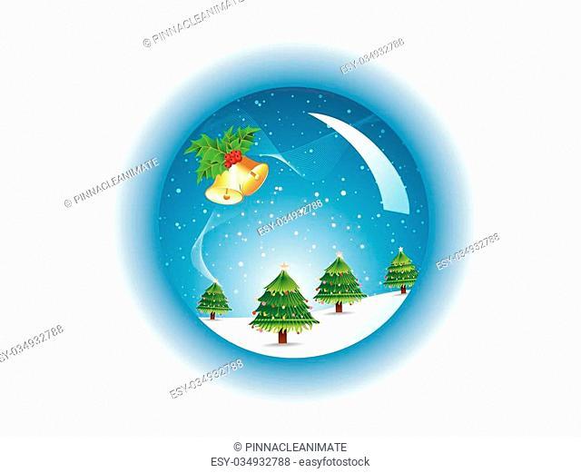 Beautiful Vector Crystal Christmas Ball