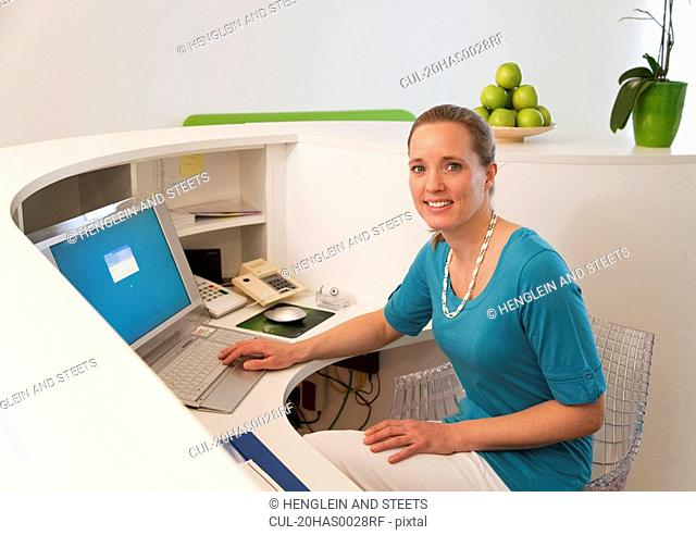 Receptionist in surgery