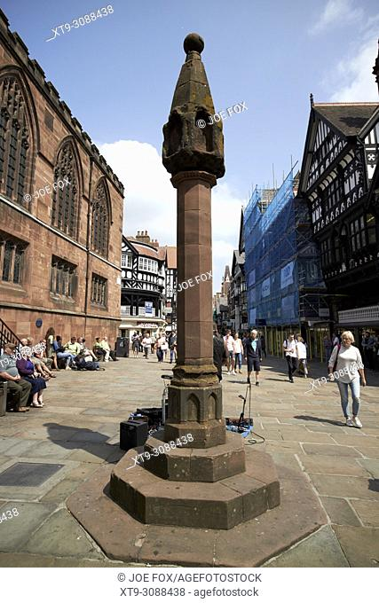 chester high cross at chester cross in chester cheshire england uk