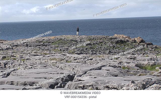 Stock Footage of a Rocky Coastline
