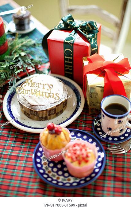 Decorative Cake, Gift Boxes And Cup Cake