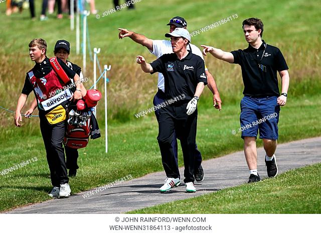 Day 1 of the Celebrity Cup golf tournament held at Celtic Manor Resort Featuring: Rob Brydon Where: Newport, United Kingdom When: 01 Jul 2017 Credit: John...