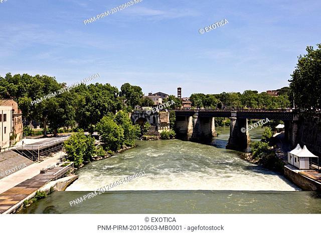 Bridge across a river, Rome, Lazio, Italy