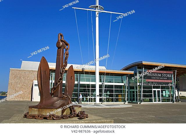 Anchor outside the Columbia River Maritime Museum in Astoria