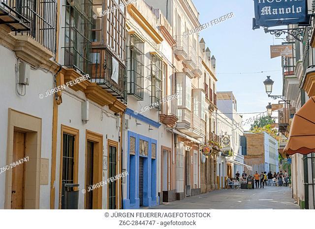 town El Puerto de Santa Maria, town of wine industry and sherry, province of Cádiz, Spain