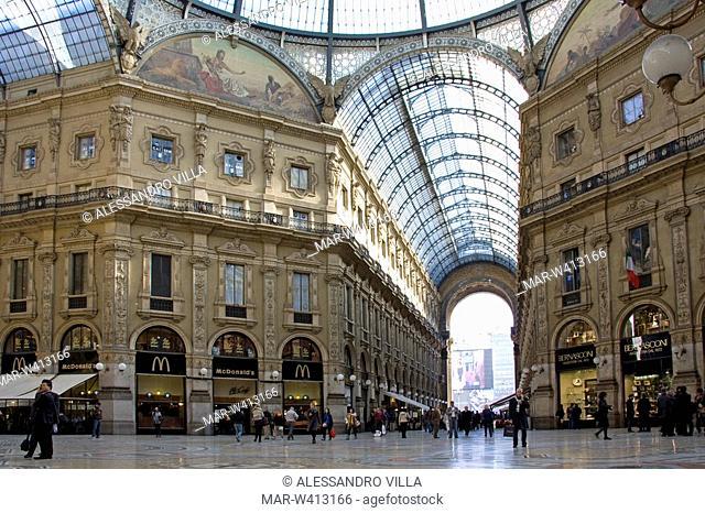 galleria vittorio emanuele, milan, lombardia, italy